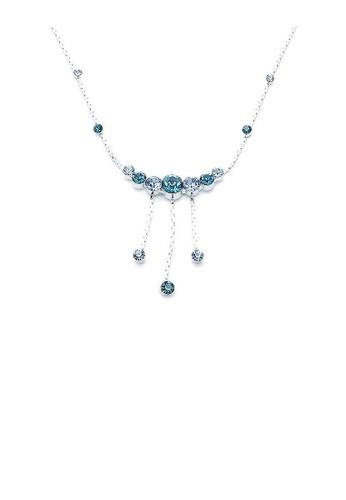 Glamorousky blue Elegant Necklace with Blue Austrian Element Crystals A7816AC7DA30A0GS_1