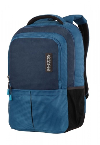 American Tourister blue American Tourister Tech Gear Laptop Backpack 01 AM536AC0GMZASG_1