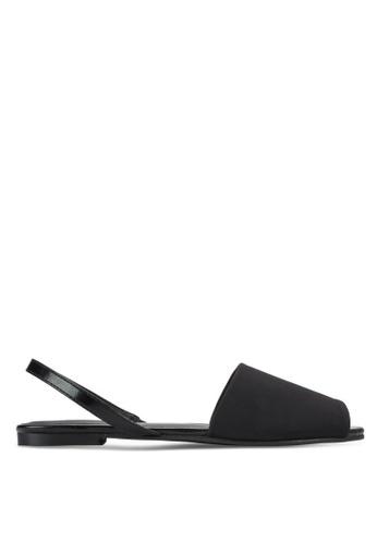 ZALORA black Slingback Flat Sandals ARTFUSH0000013GS_1