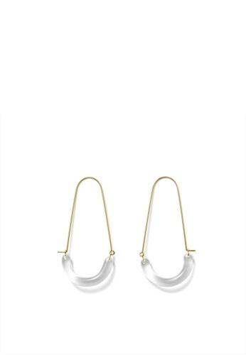 MONDAY EDITION gold U Shape Glass Earrings AA91BAC0D5CF93GS_1