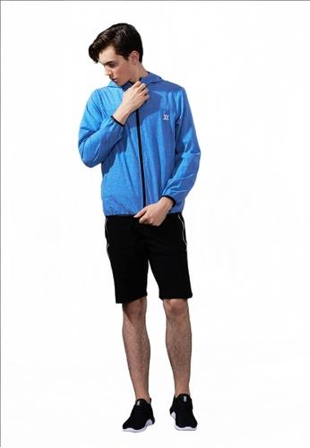 Life8 blue Sport Elastic Hoodie With Storage Bag-13119-Blue LI283AA0FFP0SG_1