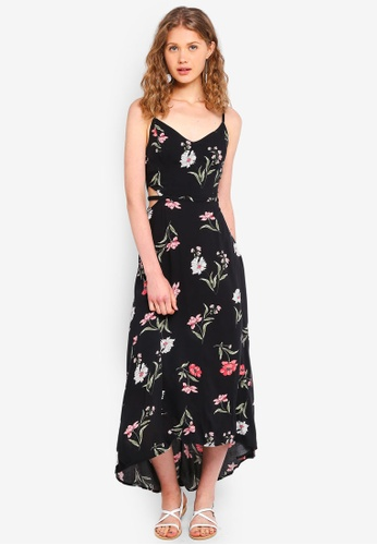 Hollister black Side Cutout Maxi Dress 219ECAA8F3994BGS_1