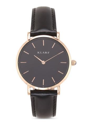Klarf black Petite Watch With Leather Bracelet A20DBACE6E1681GS_1