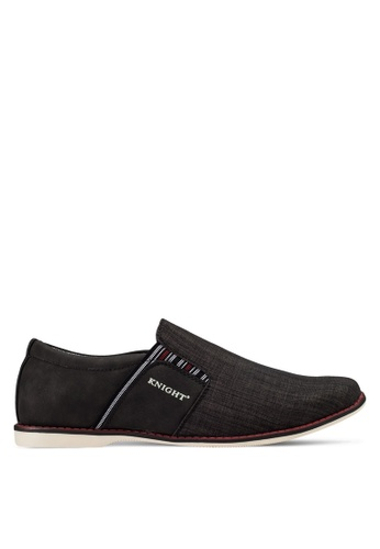 Knight black Casual Slip Ons KN875SH99RGIMY_1