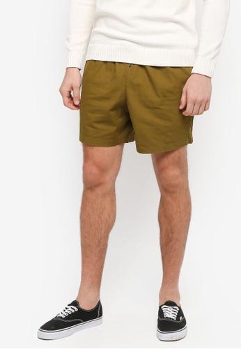 Topman 綠色 素色短褲 C0CD3AA71FC69BGS_1
