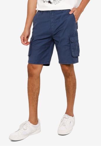 Springfield blue Cargo Bermuda Shorts 70A78AAEA6CC57GS_1