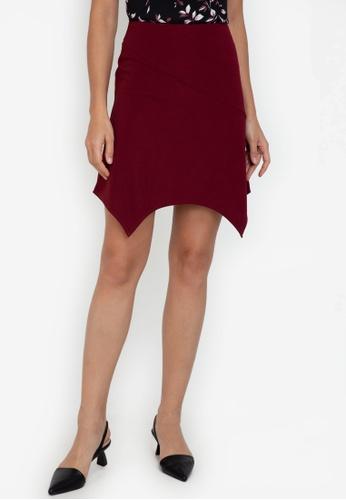ZALORA WORK red Handkerchief Hem Mini Skirt AC374AABF7FB3DGS_1