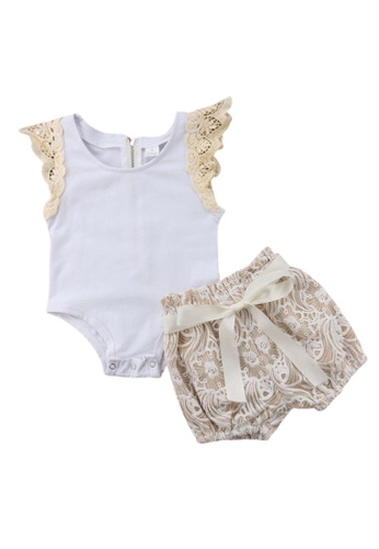 RAISING LITTLE white and yellow and beige Hazel Outfit Set 7BC78KAB7EF82BGS_1