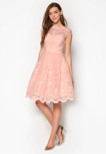 Mackenzie 鉤花蕾絲拼接洋esprit台灣網頁裝, 服飾, 洋裝