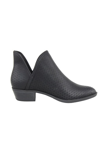 London Rag black Women perforated Ankle Boots SH1053 LO704SH91GDGHK_1