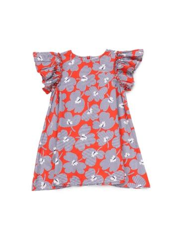 PONEY red Poney Sophie Floral Cotton Printed Short Sleeve Dress 97DC1KA9C2B47BGS_1