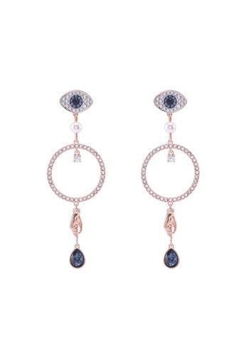 SWAROVSKI gold Swarovski Symbol Pierced Hoop Circle Earrings 45DACAC42C2482GS_1