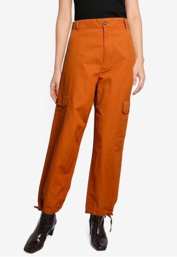 niko and ... orange Cargo Pants 1F3EBAAAD64336GS_1