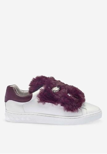 ASH 白色 Panda - 白色皮草運動鞋 8D4D0SHC215E81GS_1