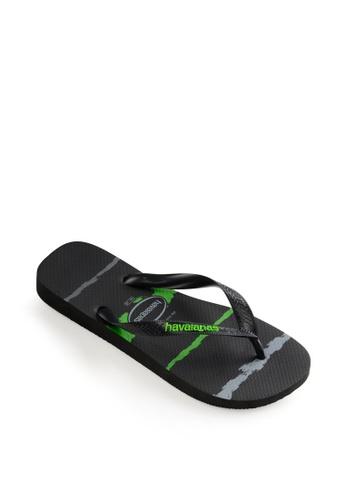 Havaianas black Top Tropical Glitch Flip Flops 51E23SH7A46233GS_1