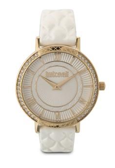 【ZALORA】 R7251527503 Jc Hour 閃鑽皮革圓錶