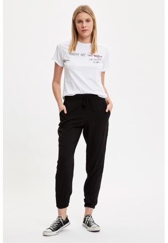 DeFacto 黑色 Woman Woven Bottom Trousers 35CF1AA9FA7627GS_1