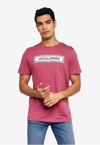 Jack & Jones pink Londons Crew Neck Short Sleeve Tee 767AFAA6738EE6GS_1