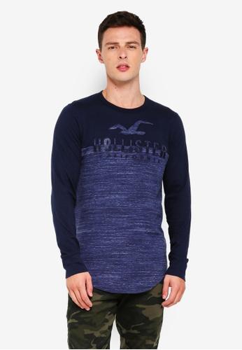 Hollister 海軍藍色 LOGO印花T恤 B28D6AAA1B9BDCGS_1