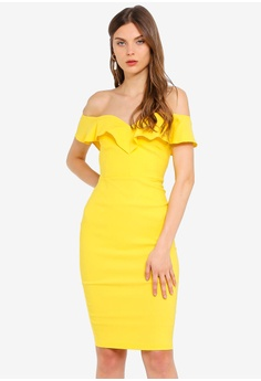 894db06204f82 Vesper yellow Annalise Bardot Frill Dress 00D93AA27953FAGS_1