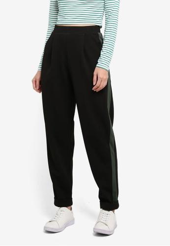 Miss Selfridge multi Green Side Stripe Jersey Joggers B7837AABAE4CC8GS_1