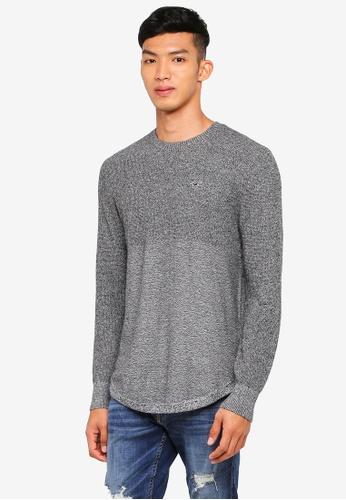 Hollister 黑色 長袖針織毛衣 EB681AA5951999GS_1