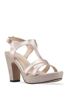 13850106b239 Spiffy Glittery Strappy Heels S  28.90. Sizes 5 6 7 8 9