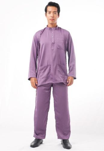 KAMDAR purple Shafi Baju Melayu 61317AA92DA439GS_1