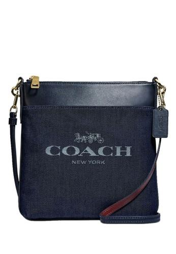 Coach blue COACH Kitt Denim Jacquard Leather Crossbody 79BBBAC6FF5F6BGS_1