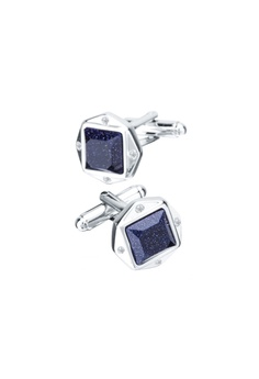 084b0c03a9a7 Kings Collection blue Lucky Blue Crystal Men Square Cufflinks  39EC9AC6FD090CGS_1