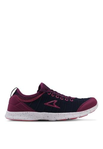 Power purple and navy Power Womens Running Shoes B485CSHB850CA4GS_1