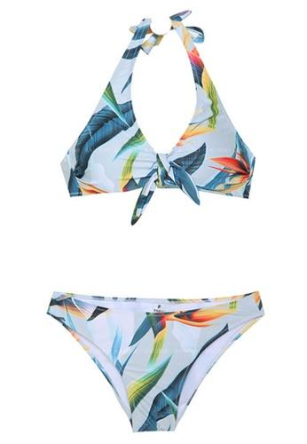 Halo multi Printed Swimsuit Bikini AD2BDUS92335AFGS_1