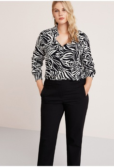 418ef1b229 60% OFF Violeta by MANGO Plus Size Straight Suit Trousers RM 269.00 NOW RM  107.90 Sizes 48