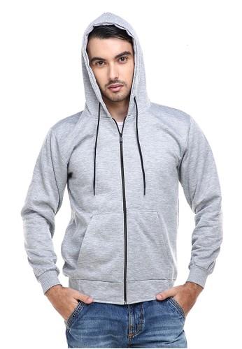 Hamlin grey Hamlin Clover Jaket Sweater Hoodie Polos Pria Casual Plain Jacket Material Fleece ORIGINAL 758C6AA26A13F5GS_1