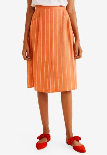 f59dbc47a3 Jual Mango Flowy Striped Skirt Original   ZALORA Indonesia ®