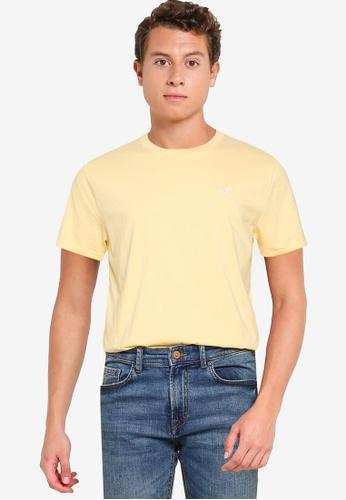 Hollister yellow Crew Solid T-Shirt A2E44AA8E6B05CGS_1
