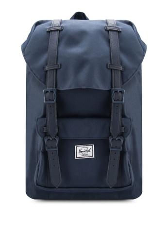 Herschel navy Little America Mid Volume Backpack HE305AC63BOESG_1