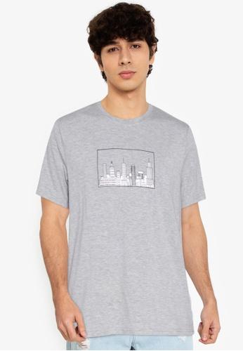 ZALORA BASICS grey Cityscape T-Shirt FFC4FAA1F4525BGS_1