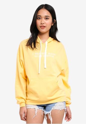 Penshoppe yellow Fleece Hoodie 4D8A2AA8E56C00GS_1