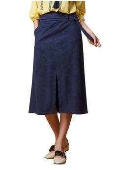 OUWEY歐薇 都會優雅知性衩裙