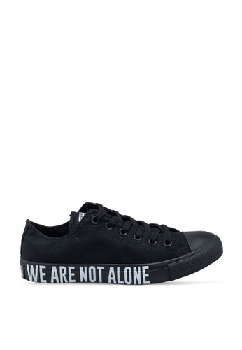 Converse black Chuck Taylor All Star We Are Not Alone Ox Sneakers A26C8SHF1BD6C6GS_1