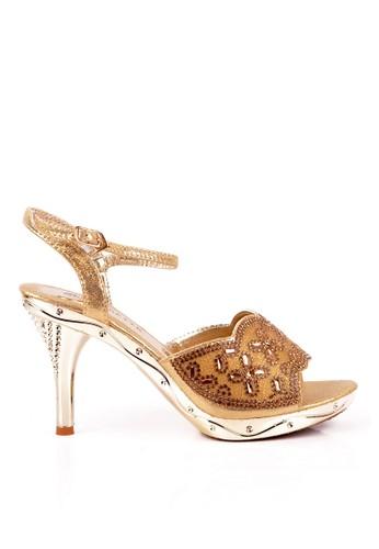 Clarette Heels Lorita Gold