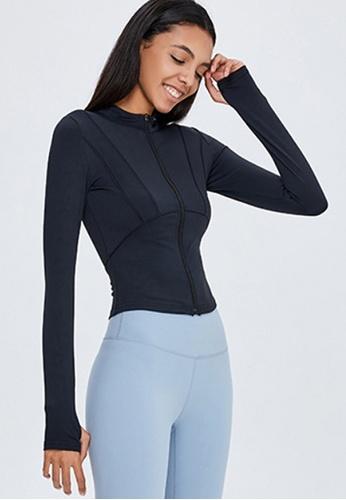 Twenty Eight Shoes black VANSA Fashion Slimming Yoga Jacket VPW-Y0009 7AE25AADA09FF2GS_1