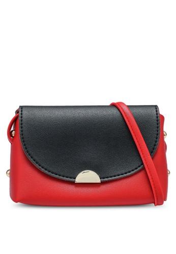 Verchini black and red Two Tone Mini Sling Bag E17E7ACE3E2B25GS_1