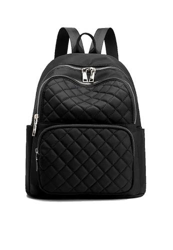 Twenty Eight Shoes black VANSA Diamond Stitching Oxford Backpacks VBW-Bp6628 90D12AC4A872D3GS_1