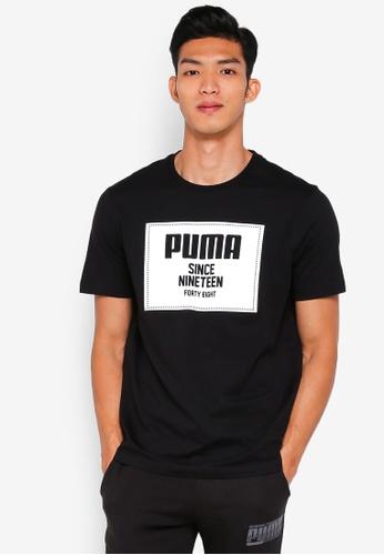 Puma black Sportstyle Core Rebel Block Basic Tee 46EACAA36FFE53GS_1