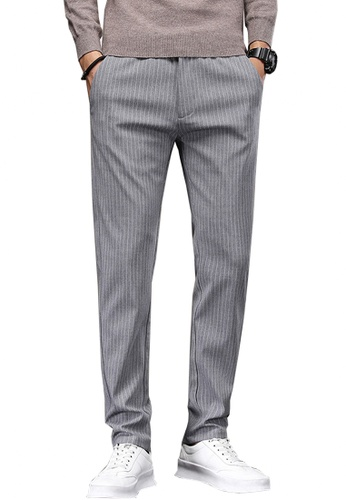 Twenty Eight Shoes grey VANSA Simple Stretch Stripes Casual Pants   VCM-P18008 D7B91AAAF76F2AGS_1