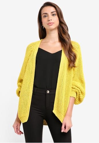 River Island yellow Yellow Chunky Knit Cardigan 324BFAAFC147E3GS_1