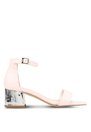 Nose 粉紅色 Chrome Low 高跟鞋 4A26BSHAEB2574GS_1