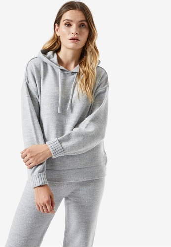 Dorothy Perkins grey Grey Lounge Knitted Hoodie C61CEAAB661E4CGS_1